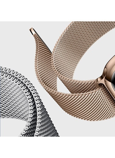 Microsonic Apple Watch 5 44mm Milanese Loop Version 3 Kordon Gold Altın